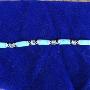Vintage Jade and peridot Bracelet